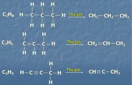 Bài 1 trang 133 sgk Hóa 9, Bài 1. Viết công thức cấu tạo đầy đủ và thu gọn  của các chất hữu cơ có công thức phân tử sau